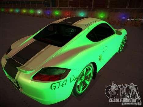 Porsche Cayman S Snow para GTA San Andreas esquerda vista
