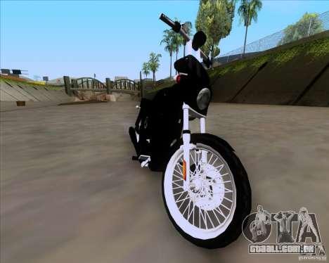 Harley Davidson FXD Super Glide para GTA San Andreas traseira esquerda vista