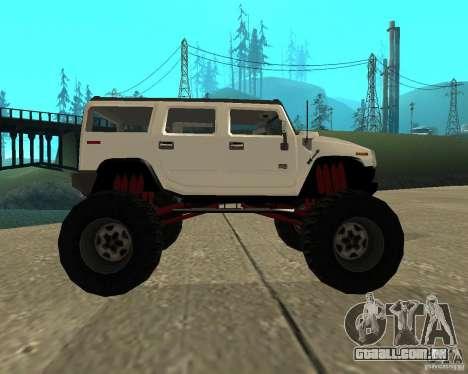 Hummer H2 MONSTER para GTA San Andreas esquerda vista