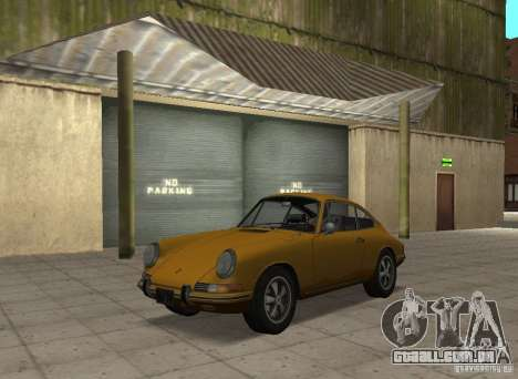 Porsche 911 S para GTA San Andreas traseira esquerda vista