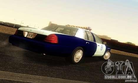 Ford Crown Victoria Masachussttss Police para GTA San Andreas esquerda vista