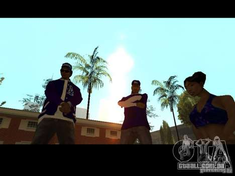 Piru Street Crips para GTA San Andreas nono tela