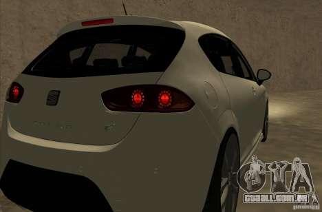 Seat Leon Cupra R para GTA San Andreas vista traseira
