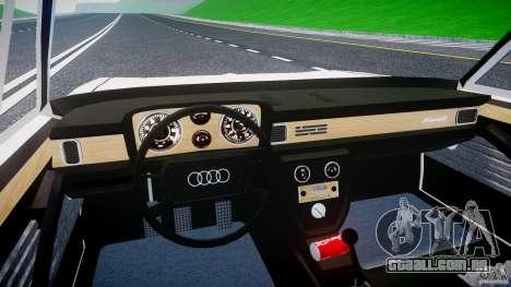 Audi 100 Coupe S para GTA 4 vista superior