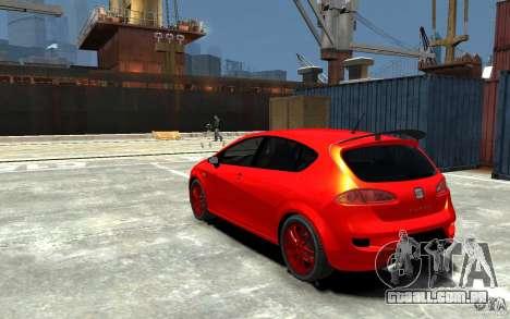 Seat Leon Cupra Light Tuning para GTA 4 traseira esquerda vista