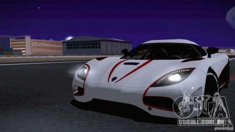 Koenigsegg Agera R 2012 para GTA San Andreas vista traseira