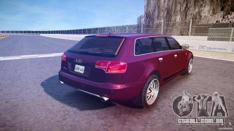 Audi A6 Allroad Quattro 2007 wheel 1 para GTA 4 vista inferior