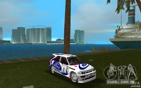 Ford Escort Cosworth RS para GTA Vice City vista traseira
