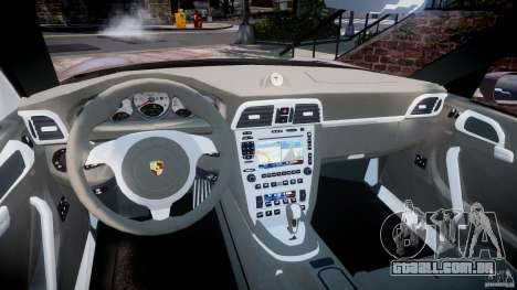 Porsche 911 (997) Turbo v1.0 para GTA 4 vista interior