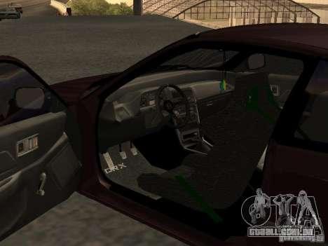 Honda Civic CRX JDM para GTA San Andreas vista interior