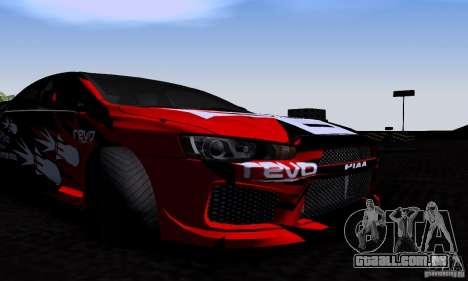 Mitsubishi Lancer Evolution X 2008 para GTA San Andreas vista interior