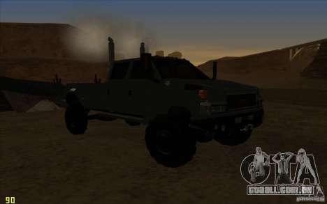 GMC Topkick Ironhide TF3 para GTA San Andreas vista traseira