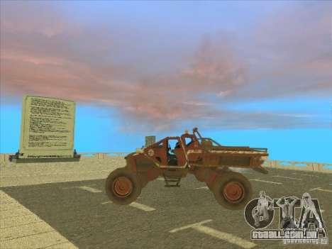 Jeep from Red Faction Guerrilla para GTA San Andreas traseira esquerda vista