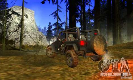 Jeep Wrangler para GTA San Andreas vista direita