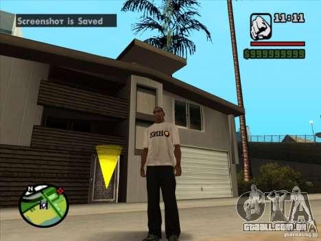 Camiseta filmes para GTA San Andreas segunda tela