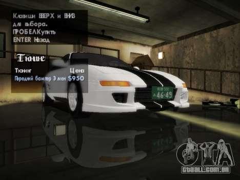 Toyota MR2 GT para vista lateral GTA San Andreas