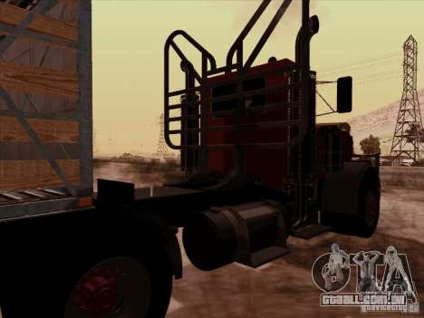 Peterbilt 359 Day Cab para GTA San Andreas vista traseira