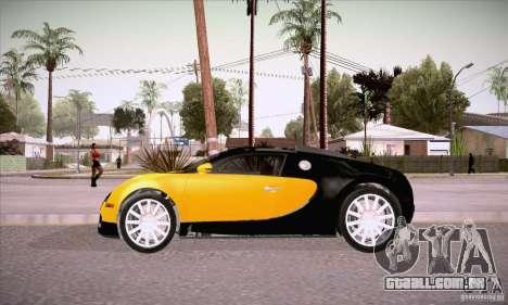 Bugatti Veyron 16.4 EB 2006 para GTA San Andreas esquerda vista