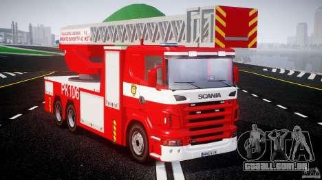 Scania R580 Fire ladder PK106 [ELS] para GTA 4 vista direita