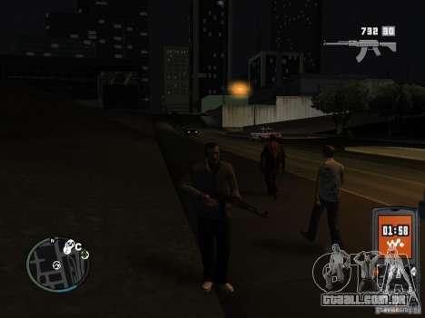 HUD e as armas de GTA IV para GTA San Andreas
