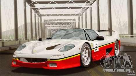 Ferrari F50 v1.0.0 Road Version para GTA San Andreas vista superior