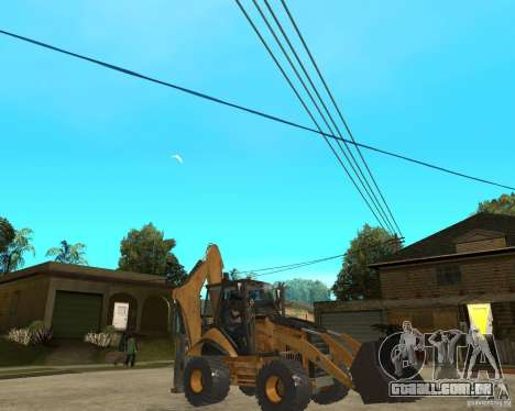 Lastik Tekerli Dozer para GTA San Andreas vista direita