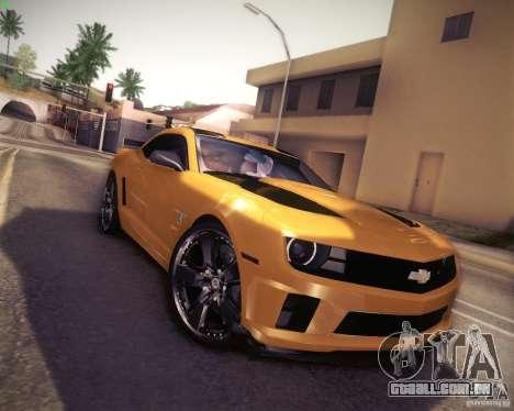 Chevrolet Camaro 2SS 2012 Bumblebee v.2.0 para GTA San Andreas vista traseira