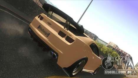 Chevrolet Camaro SS Dr Pepper Edition para GTA San Andreas vista traseira