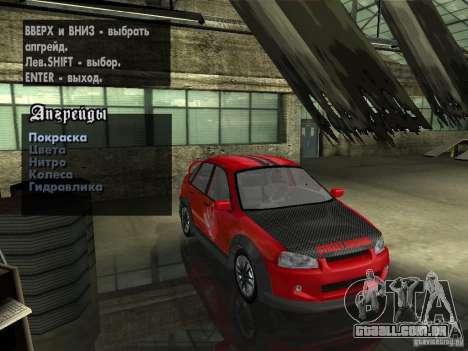 Lada Kalina Sport Tuning para GTA San Andreas vista traseira