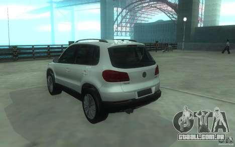 Volkswagen Tiguan 2012 para GTA San Andreas esquerda vista