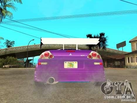 Mitsubishi Spider para GTA San Andreas traseira esquerda vista