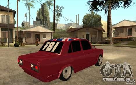 VAZ 2107 Hobo, v. 2 para GTA San Andreas vista direita