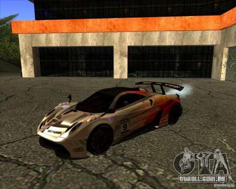 Pagani Huayra SHE para GTA San Andreas