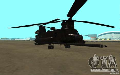 MH-47G Chinook para GTA San Andreas esquerda vista