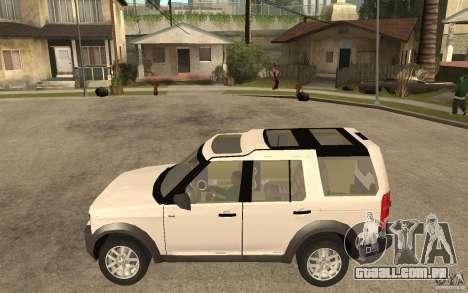 Land Rover Discovery 3 V8 para GTA San Andreas esquerda vista