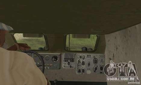 BRDM-1 pele 4 para GTA San Andreas vista interior