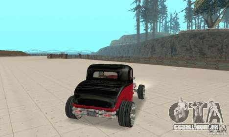 Ford Hot Rod 1932 para GTA San Andreas esquerda vista