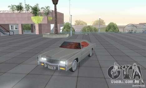 Cadillac Eldorado Convertible 1976 para GTA San Andreas esquerda vista