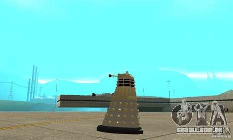 Dalek Doctor Who para GTA San Andreas esquerda vista