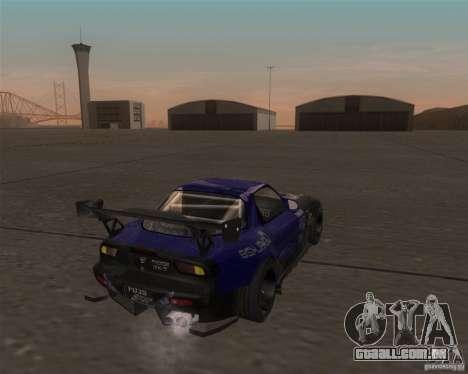 Mazda RX-7 FD3S special type para GTA San Andreas vista direita