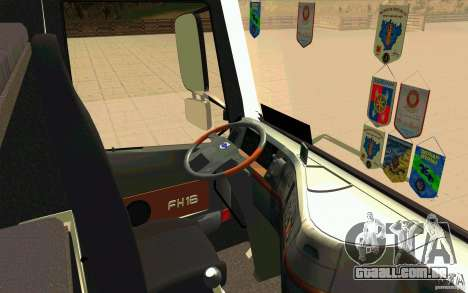 Volvo FH16 Globetrotter TRANSALLIANCE para GTA San Andreas vista direita