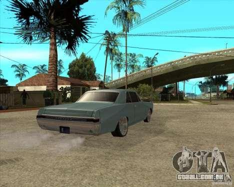 PONTIAC GTO 65 para GTA San Andreas traseira esquerda vista