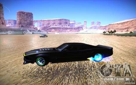Ford Mustang RTR Drift para GTA San Andreas vista traseira