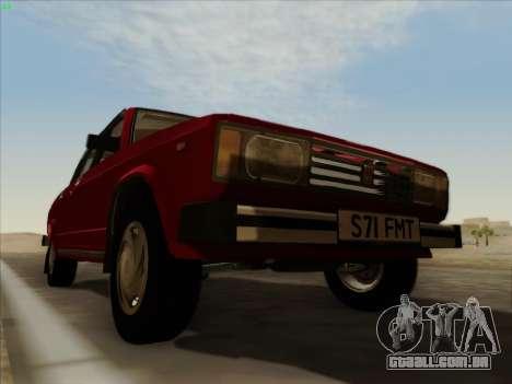 2105 Lada RIVA (exportação) 2.0 para GTA San Andreas vista superior