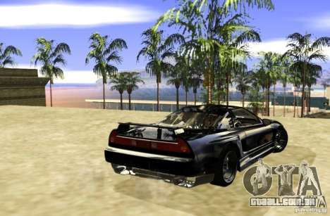 Acura NSX Tuned para GTA San Andreas vista direita