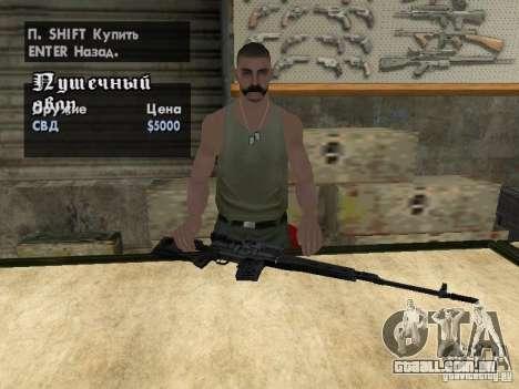 Armas de Pak domésticos para GTA San Andreas twelth tela