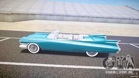 Cadillac Eldorado 1959 interior white para GTA 4 traseira esquerda vista