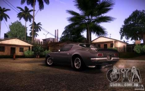 Pontiac Firebird 1970 para GTA San Andreas vista traseira