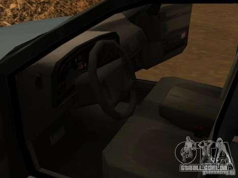 Mercury Sable GS 1989 para GTA San Andreas vista traseira