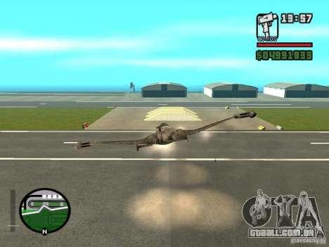 Future Army Jet para GTA San Andreas vista direita